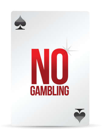 no gambling playing card illustration design over white Stock Vector - 16617171