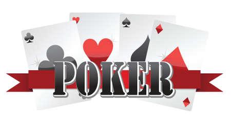 poker cards illustration design over a white background Stock Vector - 16617165