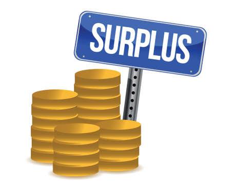 budgetary: surplus money illustration design over a white background Illustration