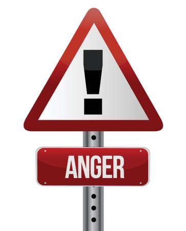 anger sign illustration design over a white background