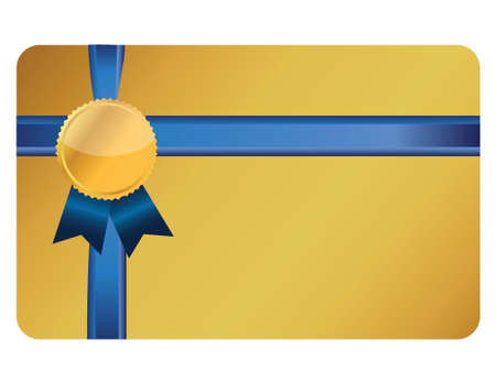 star award: gift card banner and ribbon illustration design over a white background