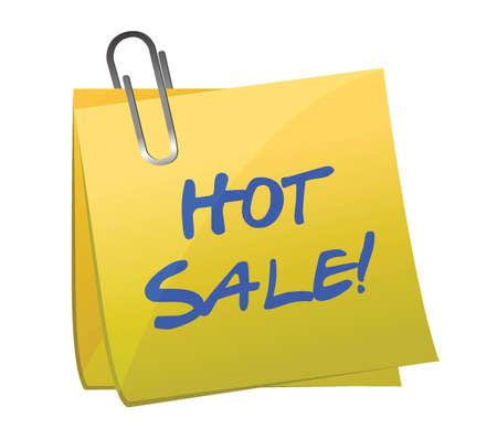 hot sale post it illustration design over white Stock Vector - 16667064
