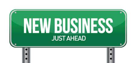 nuovo business design illustrazione segno su bianco Vettoriali