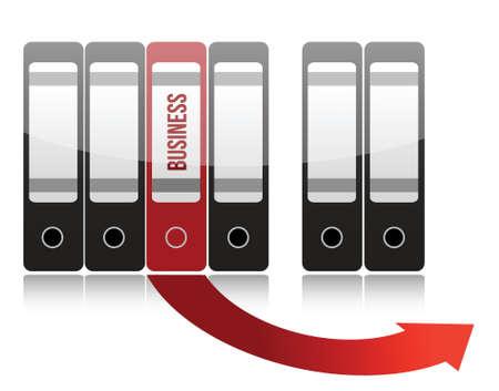business folder illustration design over a white background Stock Vector - 16667110
