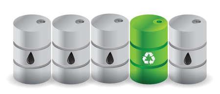 oil vs alternative oil illustration design over a white background Stock Vector - 16667133