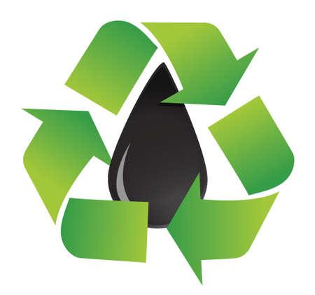 recycle oil symbol illustration design over a white background design Ilustração