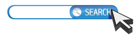 internet search: search bar illustration design over a white background