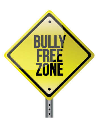 bully: bully free zone illustration design over a white background