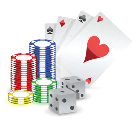casino concept illustration design over white background Vector