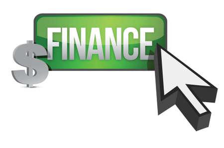 finance selection concept illustration design over white Stock Vector - 16692116