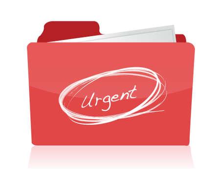 urgent documents concept illustration design over white Çizim