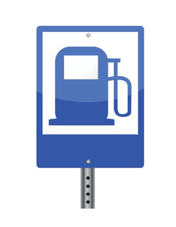 combustible: gas street sign illustration design over a white background