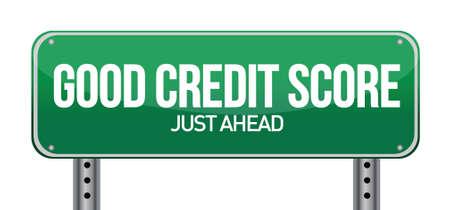 Una buena puntuación de crédito justo por delante ilustración del diseño sobre blanco Foto de archivo - 16692099