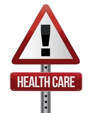 healthcare sign illustration design over a white background Stock Vector - 16692133