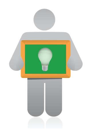 imaginative: icon idea lightbulb presentation illustration design over white
