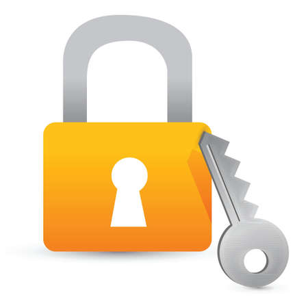 lock and key illustration design over a white background Stock Vector - 16692126