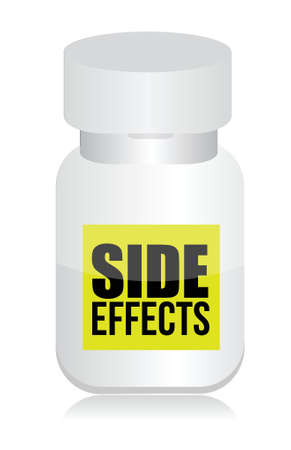 pills with side effects sign illustration design over white Vector