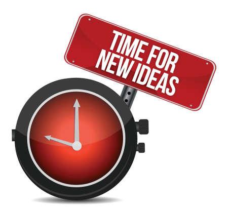 time for new ideas concept illustration design over white Çizim