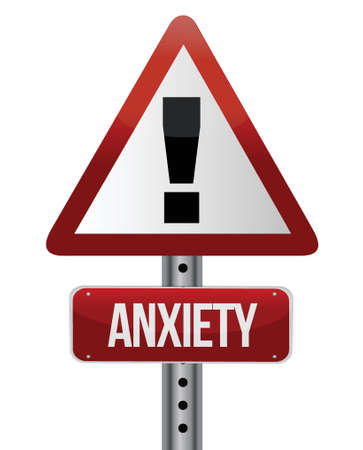anxiety sign illustration design over a white background