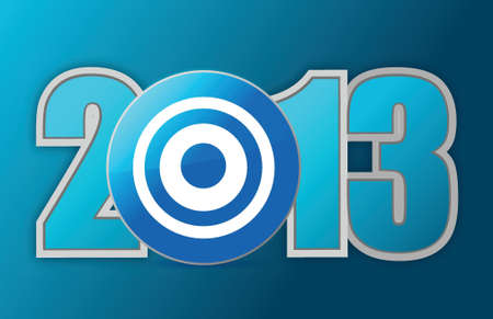 target year 2013 illustration design over a blue background Stock Vector - 16712155