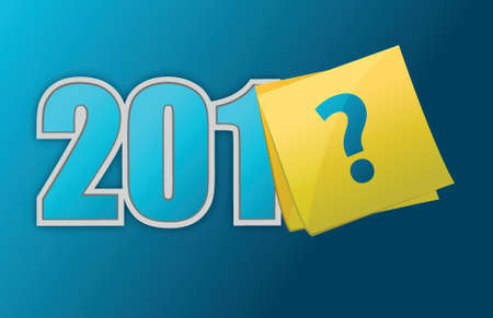 happy new unknown year illustration design over a blue background Vectores