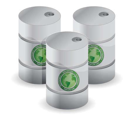 eco friendly oil illustration design over a white background Stock Vector - 16712157