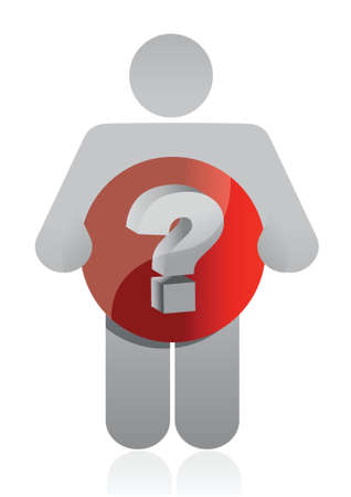 dauntless: icon holding a question mark illustration design over white