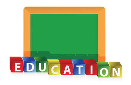 ホワイト バック グラウンド デザイン教育概念イラスト デザイン  イラスト・ベクター素材