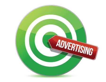 targeting advertising illustration design over a white background Stock Vector - 16712120