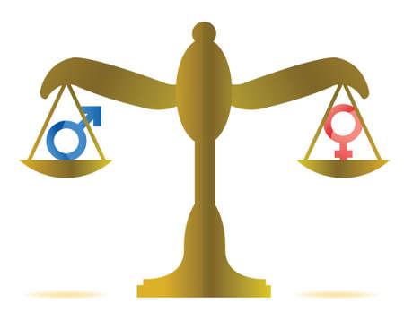 sex equality concept illustration design over a white background