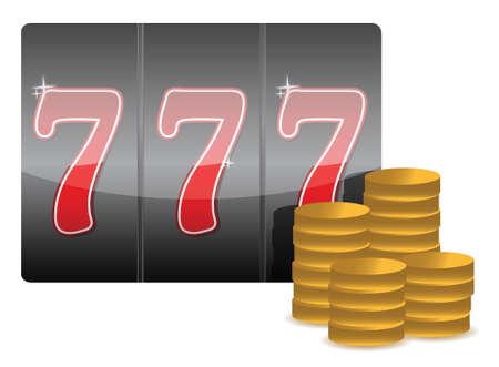 token: gambling concept illustration design over a white background Illustration
