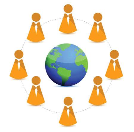 globe business network illustration design over a white background Stock Vector - 16731299