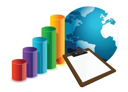 business plan concept illustration design over white Stock Vector - 16731307
