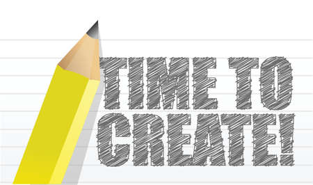 creativity concept illustration design over a notepad paper