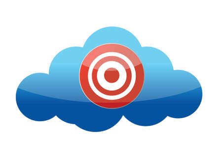 a target on a cloud isolated on white background Stock Vector - 16751198
