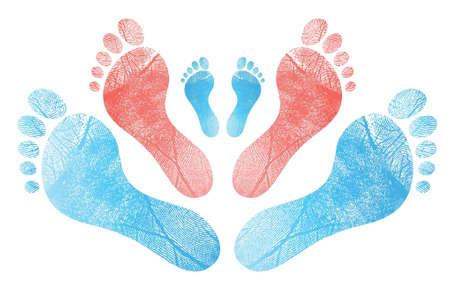 Symbol der Familie, Illustration, Design in weiß Vektorgrafik