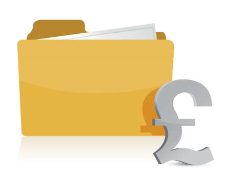 pound sign and folder illustration design over a white background