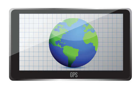 GPS world tracker 3D concept illustration design Stock Vector - 16853189