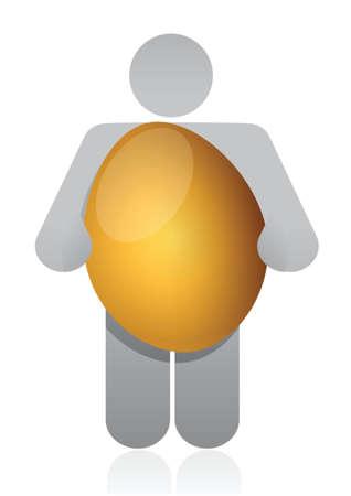 icon holding golden egg illustration design over white Stock Vector - 16751218