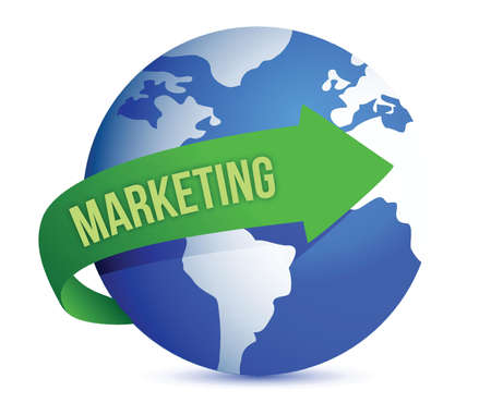 differential focus: Marketing Idea Concept illustration design over a white background Illustration