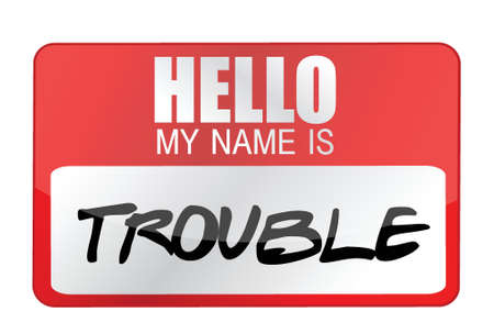 こんにちは私の名前はトラブル イラスト デザイン ホワイトです。