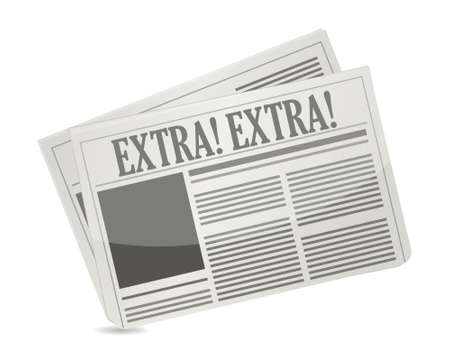 newspapers showing extra extra message illustration design
