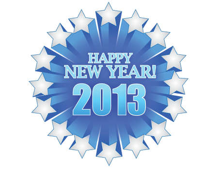new year 2013 illustration design over white Stock Vector - 16751243