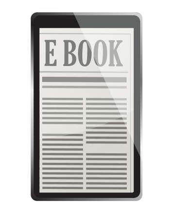 e-book 3d concept illustration design over white Stock Vector - 16751203