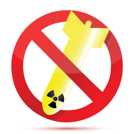 no radioactive bombs illustration design over a white background Stock Vector - 16836746
