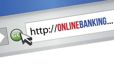 banking concept: internet browser with an online banking concept