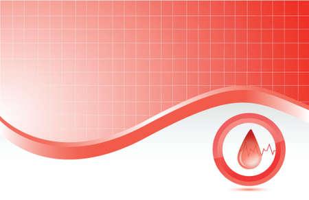 medical equipment: blood red medical background illustration design graphic