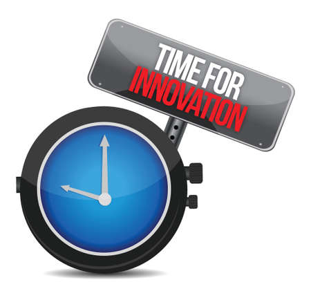 time for innovations concept illustration design over white Vector