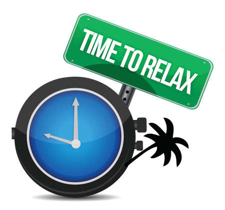 time to relax concept illustration design over white Stock Vector - 16838608