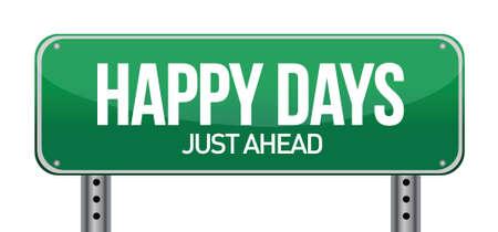 conceptual image, Happy days ahead illustration design Ilustração